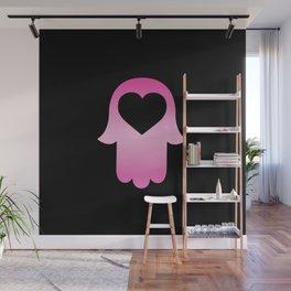 Gradient Pink Khamsa Black Wall Mural