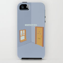 I can see through you iPhone Case