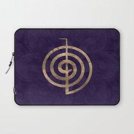 Cho Ku Rei - gold on purple lotus Laptop Sleeve