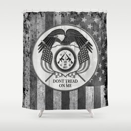 Faith Hope Liberty & Freedom Eagle on US flag Shower Curtain