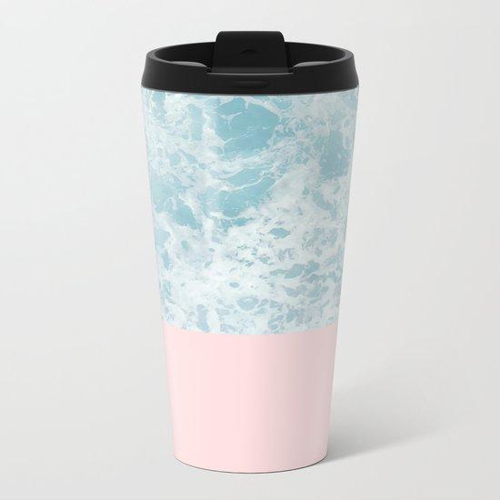 Pink on the Sea Metal Travel Mug