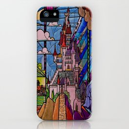 ROMANCE BEAUTY AND THE BEAST Castle Stained Glass iPhone Case