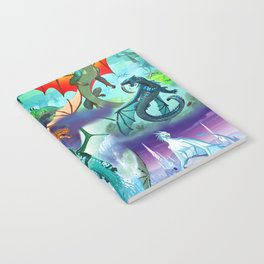 Wings of fire all dragon bg Notebook
