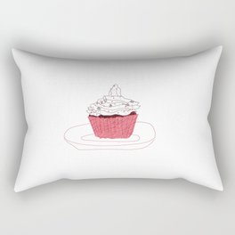 Red Velvet Vegan Cupcake  Rectangular Pillow