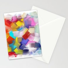abstract brush Stationery Cards