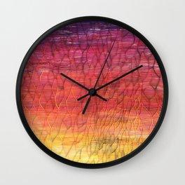Desert Sunset Pattern Wall Clock