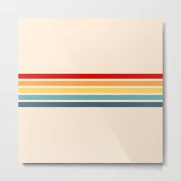 Takaakira - Classic Rainbow Retro Stripes Metal Print