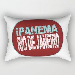 Ipanema, Rio de Janeiro, text, circle Rectangular Pillow