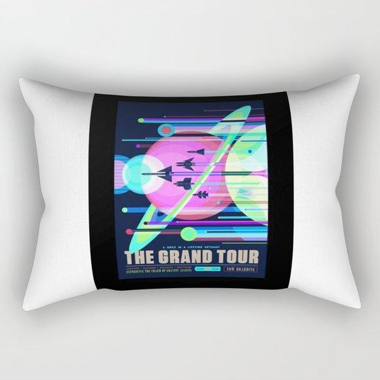 Grand Tour - NASA Space Travel Poster (Alternative) Rectangular Pillow