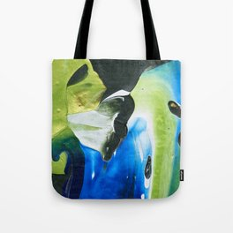 Abstraction - Green and green - by LiliFlore Tote Bag