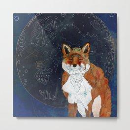 Lunar Kitsune Metal Print