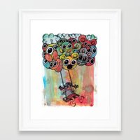 baloon Framed Art Prints featuring baloon by Hugo Lucas