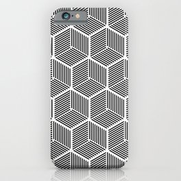 Three Dimensional Cubical Geometry iPhone Case