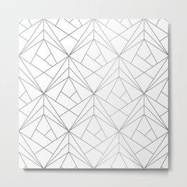 Geometric Silver Pattern Metal Print