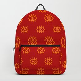 Eyes on You - Fiery Red Backpack