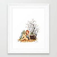 lydia martin Framed Art Prints featuring Lydia Martin, Autumn by strangehats