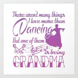 Dancing Grandma Art Print