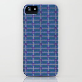 Bold and Blue Modern iPhone Case
