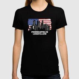 Minneapolis Longfellow Minnesota Skyline T-shirt