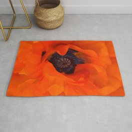 Red Poppy Rich Petals Multiplication Effect Rug