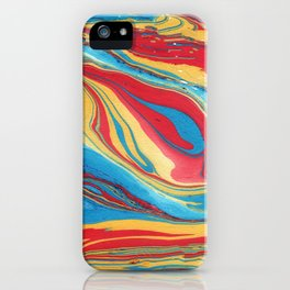 Primary Splash Marble Painting iPhone Case