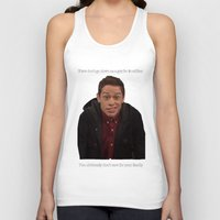 snl Tank Tops featuring Pete Davidson Talks Business by F*** Me Pete Davidson