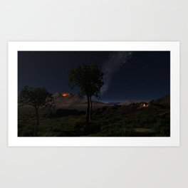 An Ancient Scene in the African Rift Valley Art Print
