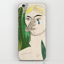 Crying woman iPhone Skin