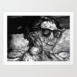 mono-type-girl Art Print