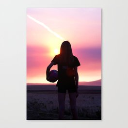Volleyball Player Canvas Print