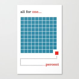 1% Canvas Print