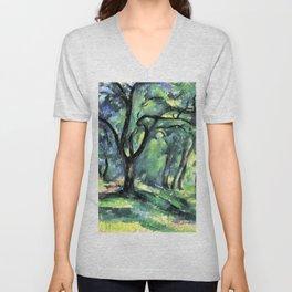 "Paul Cezanne ""Forest"" c.1890 Unisex V-Neck"