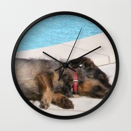 Lizzy, SOO tired Wall Clock