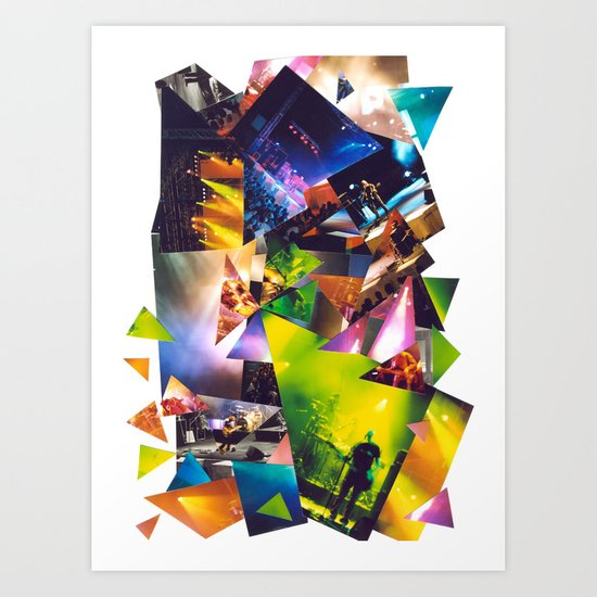 Collage Love: Music Concert Art Print