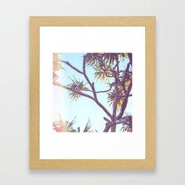 Retro Tropical Palm Tree Framed Art Print