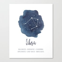 Libra Constellation Zodiac Print Canvas Print