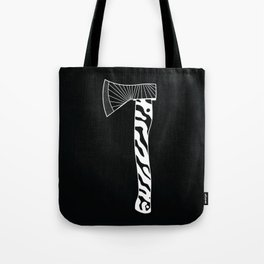 The Zebra Axe - White/Black Tote Bag