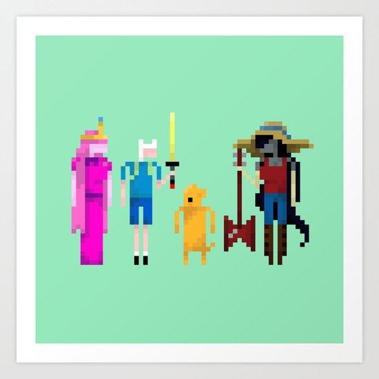 Adventure Time Gang Art Print