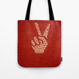 Peace Now, Freedom Now Tote Bag