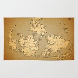 Gaia Midgar Final Fantasy VII Map Rug