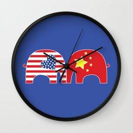 U.S.-China Friendship Elephants Wall Clock