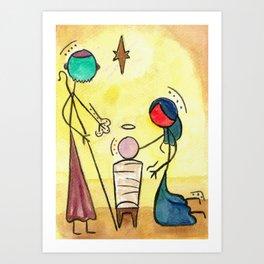 #cagsticks ''Nativity Scene 4'' Art Print