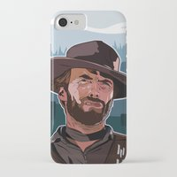 clint eastwood iPhone & iPod Cases featuring Eastwood by Matt Fontaine