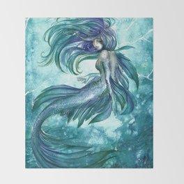 Sea current Throw Blanket