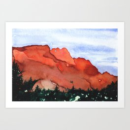 Kissing Camels Art Print