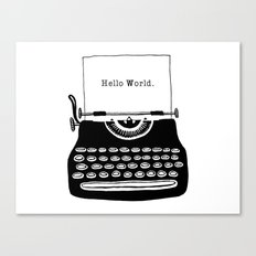 Hello World. Canvas Print