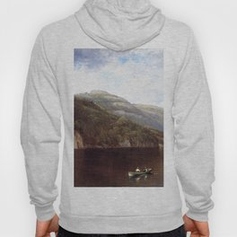 Boating On Lake George 1870 By David Johnson | Reproduction | Romanticism Landscape Painter Hoody