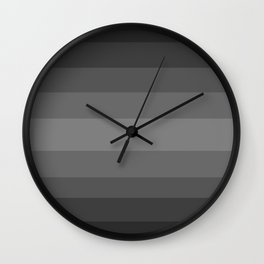 Dark Cool Stone Gray - Color Therapy Wall Clock