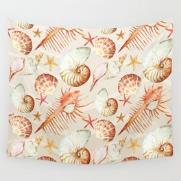 Marine Pattern 06 Wall Tapestry