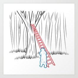 DA BEARS - CLIMBING Art Print